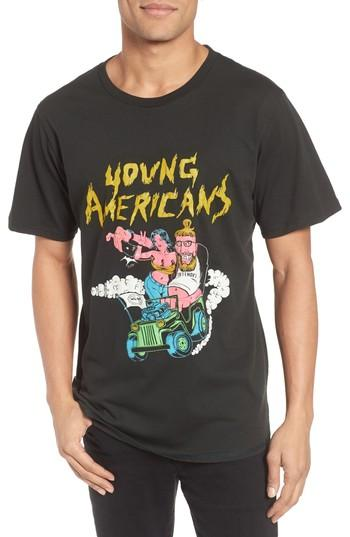 Men's Barking Irons Young Americans Slim Graphic T-shirt - Black