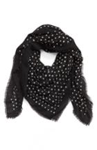 Women's Saint Laurent Lipstick Spots Square Wool Scarf