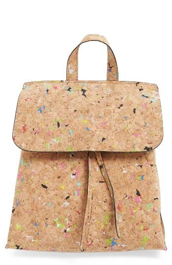 Street Level Cork Texture Backpack -