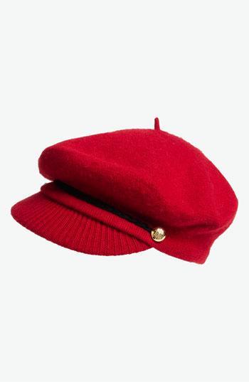 Lauren Ralph Lauren Greek Fisherman Hat Rich Red One Size