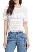 Women's Rebecca Minkoff Miwok Crochet Top - White