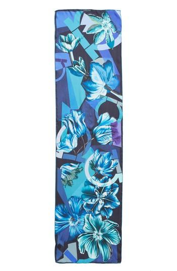 Women's Salvatore Ferragamo Andy Silk Scarf, Size - Blue