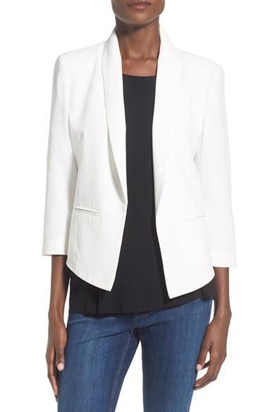 Women's Mural 'curve' Shawl Collar Blazer - White