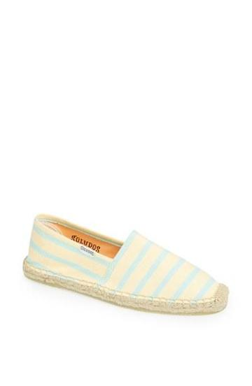Soludos 'classic' Espadrille Slip-on (women) Lemoncello/ Aqua