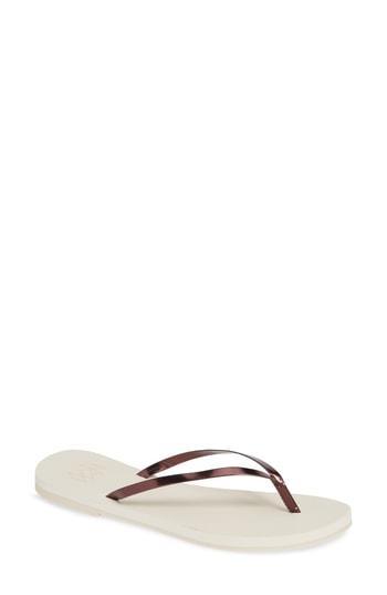 Women's Malvados Lux Thong Sandal /6 M - Ivory
