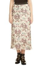Women's Maje Floral Pleated Midi Skirt