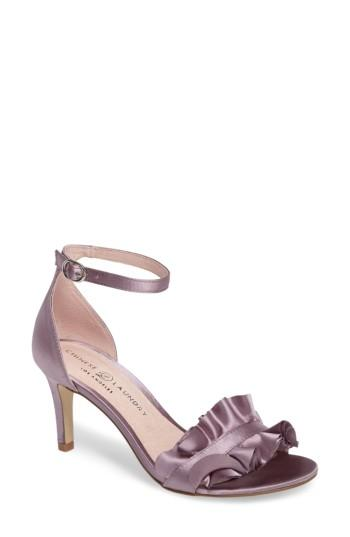Women's Chinese Laundry Remmy Ruffle Sandal .5 M - Purple