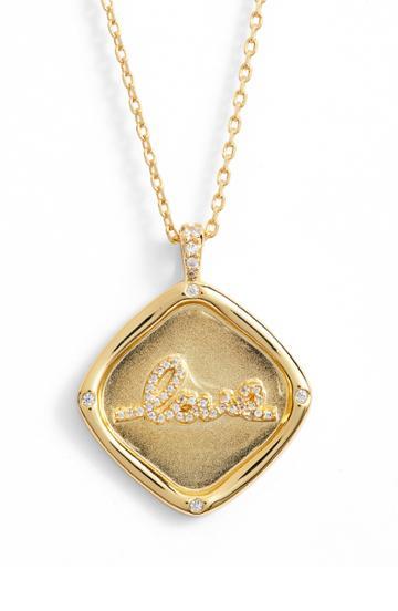 Women's Lulu Dk Love Crystal Pendant Necklace