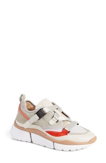 Women's Chloe Sonnie Low Top Sneaker Us / 35eu - Grey