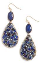 Women's Nakamol Design Beaded Teardrop Earrings