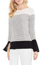 Women's Vince Camuto Colorblock Stripe Sweater - White