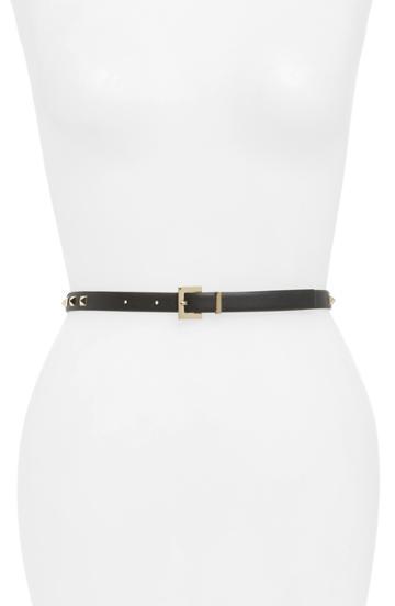 Women's Valentino Garavani Rockstud Leather Belt - Nero