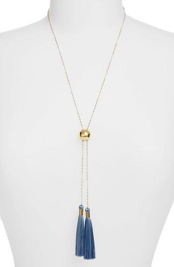Women's Gorjana Carmen Tassel Adjustable Lariat Necklace