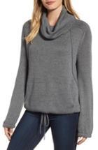 Petite Women's Caslon Cowl Neck Sweater P - Grey