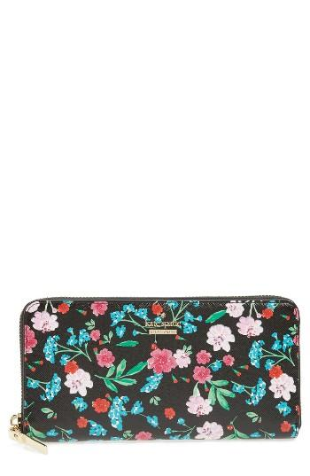 Women's Kate Spade New York Cameron Street Jardin Lacey Leather Wallet - Black