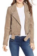 Women's Blanknyc Morning Suede Moto Jacket, Size - Beige