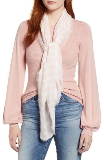 Women's Rebecca Minkoff Gerber Stripe Scarf, Size - Pink