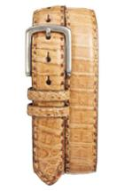 Men's Torino Belts Caiman Leather Belt - Cognac
