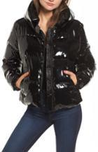 Women's Kendall + Kylie Shiny Puffer Jacket - Black