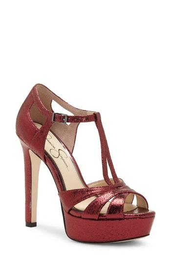 Women's Jessica Simpson Bryanne Sandal M - Red