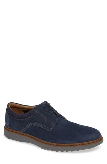 Men's Clarks Un Geo Plain Toe Derby M - Blue