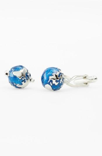 Men's Link Up 'spinning Globe' Cuff Links