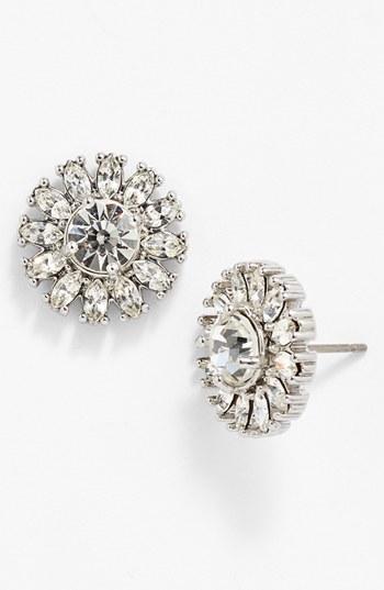 Kate Spade New York 'estate Garden' Crystal Stud Earrings Silver/