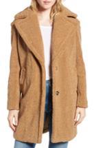 Women's Kensie Faux Fur Teddy Bear Coat - Beige