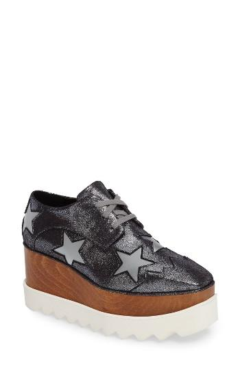 Women's Stella Mccartney Elyse Platform Oxford Us / 35eu - Metallic