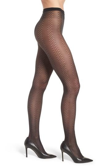 Women's Wolford Jennifer Glitter Net Tights - Black