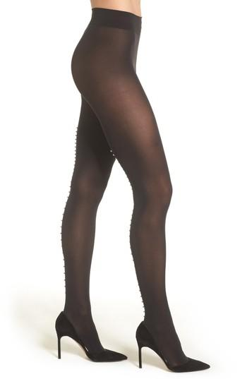 Women's Wolford Pearlescent Beaded Tights - Black