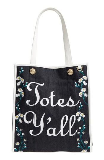 Draper James Totes Y'all Canvas Tote - Blue