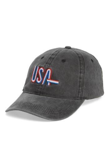 Women's Steve Madden Usa Baseball Cap - Black