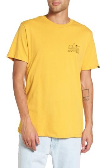 Men's Vans X Peanuts Classic Snoopy T-shirt - Yellow