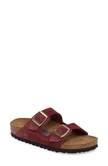 Women's Birkenstock 'arizona' Soft Footbed Suede Sandal -5.5us / 36eu B - Burgundy