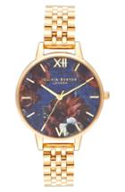 Women's Olivia Burton Floral Print Bracelet Watch, 34mm