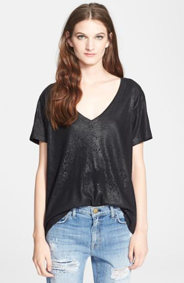 Women's Current/elliott 'the V-neck' Coated Tee