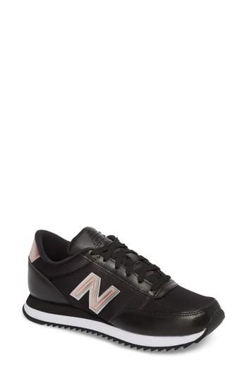Women's New Balance 501 Ripple Sneaker .5 B - Black