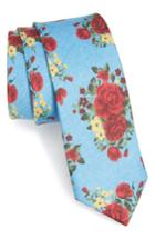 Men's The Tie Bar Hinterland Floral Silk Tie, Size - Blue