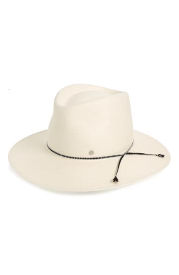 Women's Maison Michel Charles On The Go Straw Hat - White