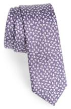 Men's The Tie Bar True Floral Silk Tie, Size - Purple