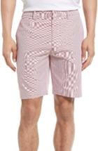 Men's Bonobos Parker Stripe Cotton Shorts - Red