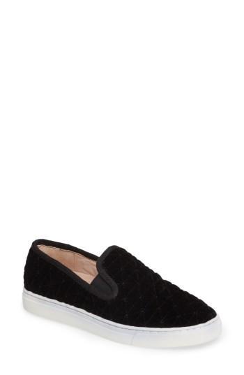 Women's Vince Camuto Billena Quilted Slip-on Sneaker .5 M - Black