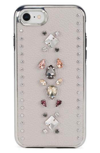 Rebecca Minkoff Inlay Gem Leather Iphone 7/8 & 7/8 Case - Beige