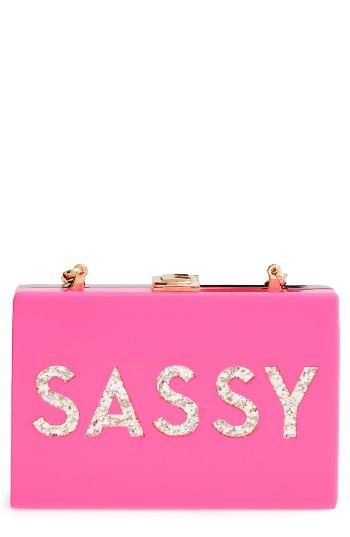 Milly Sassy/glam Acrylic Box Clutch -