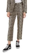 Women's Topshop Leopard Suit Trousers Us (fits Like 0) - Brown