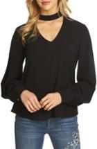 Women's Cece Choker Blouse - Black