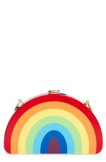 Milly Rainbow Half Moon Clutch -