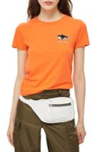 Women's Topshop Whale Of A Time Tee Us (fits Like 0) - Orange