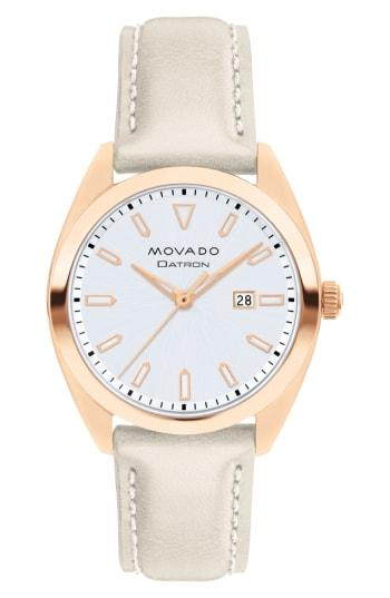 Women's Movado Heritage Datron Leather Band Watch, 31mm
